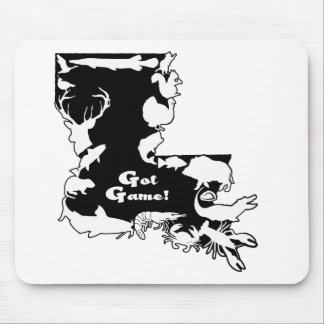 Louisiana BLACK AND WHITE GOT GAME ONLY.png Mouse Pad