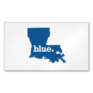LOUISIANA BLUE STATE BUSINESS CARD MAGNET