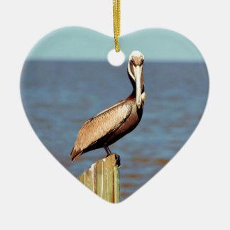 Louisiana Brown Pelican 4.jpg Ceramic Ornament