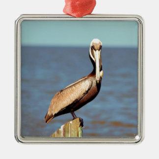 Louisiana Brown Pelican 4.jpg Metal Ornament