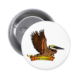 Louisiana Brown Pelican Pinback Button