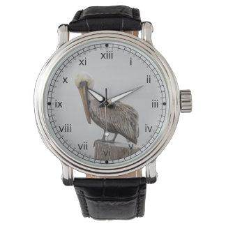 Louisiana Brown Pelican Wrist Watches