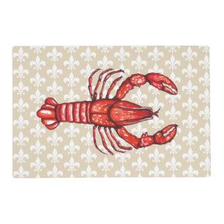 Louisiana Cajun Crawfish & Fleur De Lis Placemat