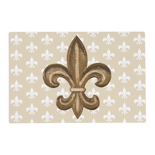 Louisiana Cajun French Fleur De Lis Placemat