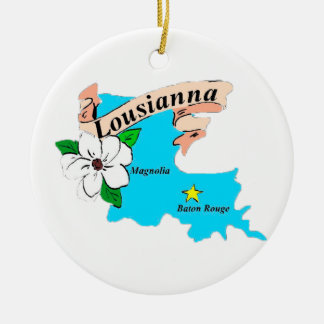 Louisiana Ceramic Ornament