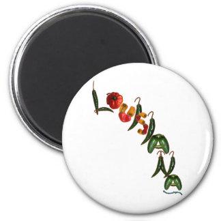 Louisiana Chili Peppers Fridge Magnet