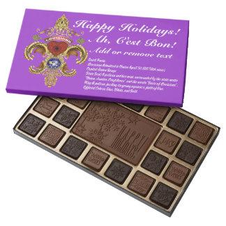 Louisiana Chocolate Assortment & Bars 37 color Box 45 Piece Box Of Chocolates