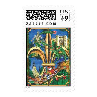 Louisiana Christmas Postage Stamps