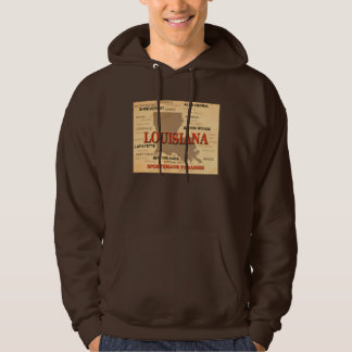 Louisiana City and Towns State Pride Map Hoodie