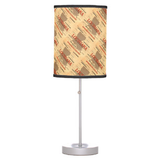Louisiana City and Towns State Pride Map Table Lamp