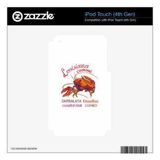LOUISIANA COOKING iPod TOUCH 4G DECAL