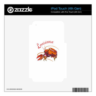 LOUISIANA CRAWDAD SKIN FOR iPod TOUCH 4G