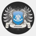 Louisiana Crest Round Sticker