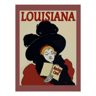 Louisiana Derby Day Vintage Woman Poster