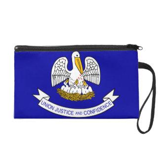 Louisiana Flag Wristlet Clutches