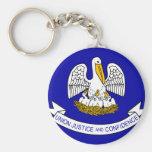 Louisiana Flag Basic Round Button Keychain