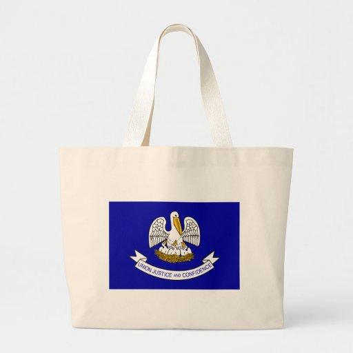 Louisiana Flag Canvas Bags