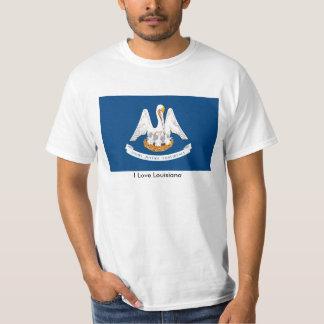 Louisiana flag for Men's-T-Shirt-White T-Shirt