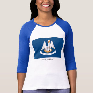 Louisiana flag for Women's-T-Shirt-White-Blue T-Shirt