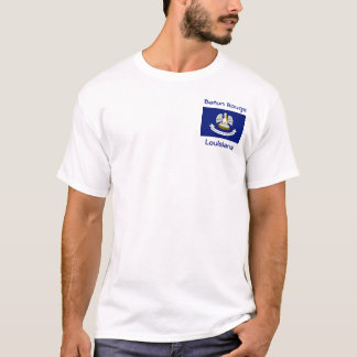Louisiana Flag Map City T-Shirt