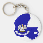 Louisiana Flag Map Key Chains