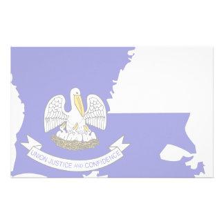Louisiana Flag Map Stationery