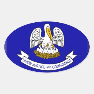 Louisiana Flag Oval Sticker