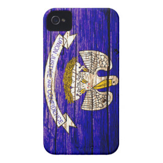 Louisiana Flag Wooden iPhone Case Case-Mate iPhone 4 Case