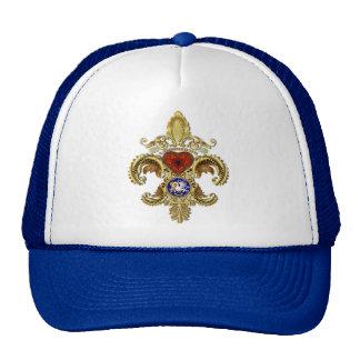 Louisiana Fleur De Lis Bicentennial Trucker Hat