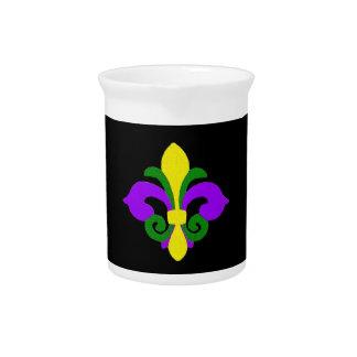 Louisiana Fleur de lis (Mardi Gras).jpg Drink Pitchers