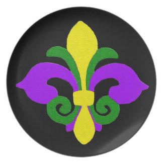 Louisiana Fleur de lis (Mardi Gras).jpg Plate