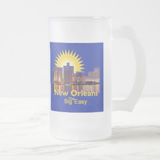 LOUISIANA FROSTED GLASS BEER MUG