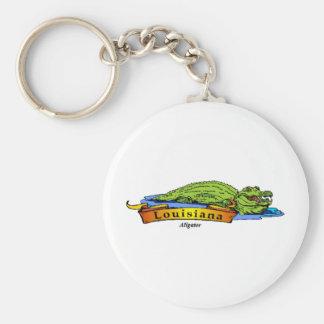 Louisiana Gator Basic Round Button Keychain