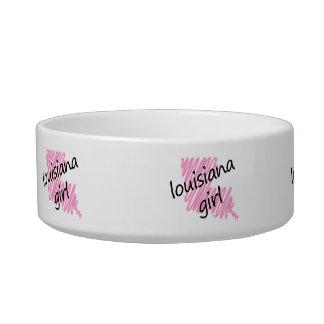 Louisiana Girl with Scribbled Louisiana Map Bowl