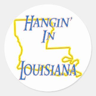 Louisiana - Hangin' Classic Round Sticker