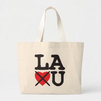 Louisiana Hates You Large Tote Bag