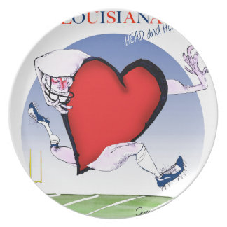 louisiana head heart, tony fernandes melamine plate