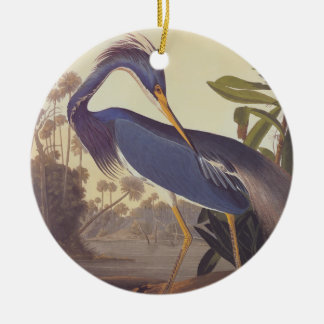 Louisiana Heron Circle Ornament
