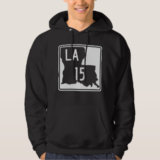 Louisiana Highway 15 Hooded Sweatshirt