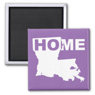 Louisiana Home Away From State Fridge Magnet