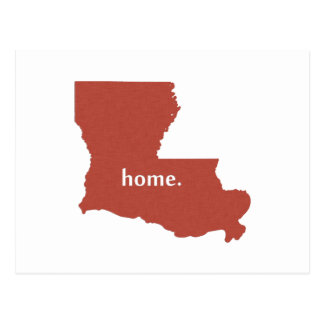 Louisiana home silhouette state map postcard