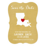 Louisiana Home State Map - Wedding Save the Date Card