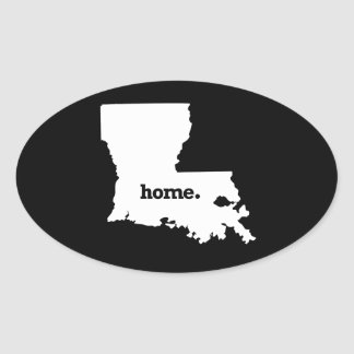 LOUISIANA HOME STATE -.png Oval Sticker