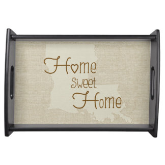 Louisiana Home Sweet Home burlap-look Serving Tray