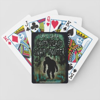 Louisiana Honey Island Swamp Monster Playing Cards