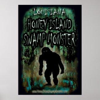 Louisiana Honey Island Swamp Monster Poster