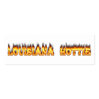 Louisiana Hottie Fire and Flames Business Card Template