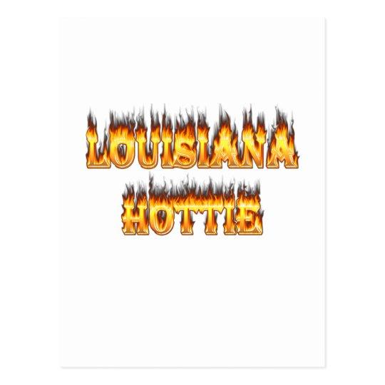 Louisiana Hottie Fire and Flames Postcard