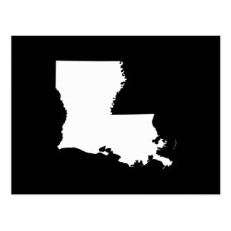 Louisiana in White and Black Postcard