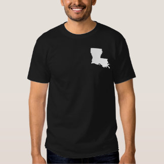 Louisiana in White and Black T-shirt